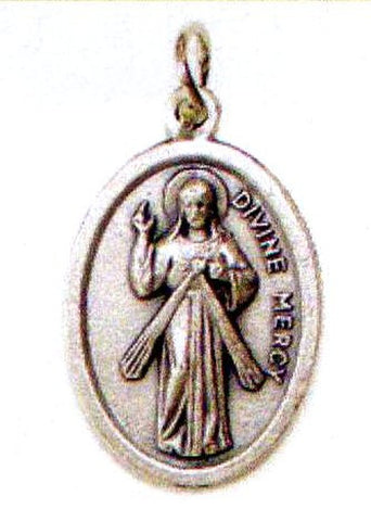 Divine Mercy Oxidized Medal in Spanish - MADE IN ITALY