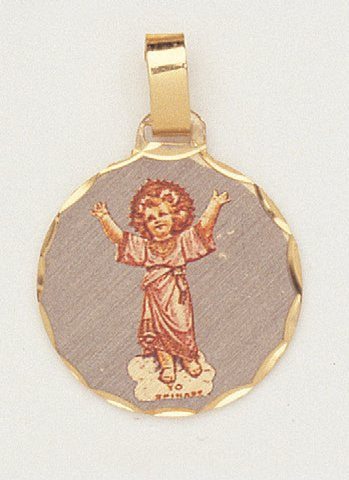 14 Kt Gold Layered Medal - Divine Child - Hand Made - Ready for Engraving - Individually Boxed