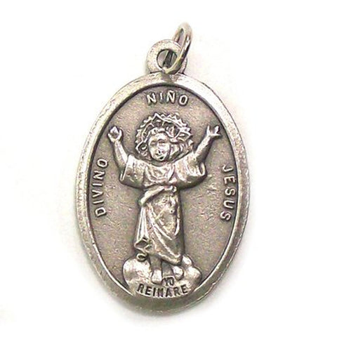 Divine Child Oxidized Medal - MADE IN ITALY