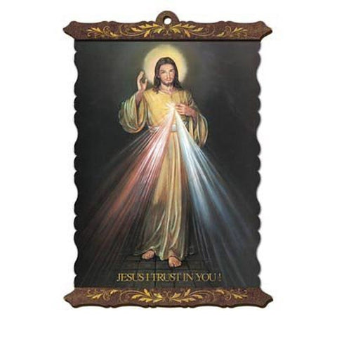 "Divine Mercy Scroll - 8""x10"" - English - Free Medal Incl."