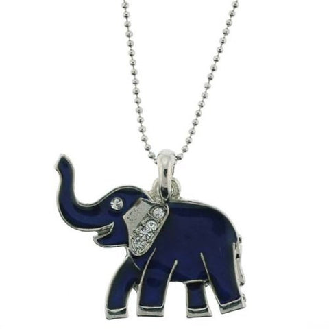 "Elephant Mood Pendant with 1.2mm Ball Chain - 16 to 18"" Adjustable Necklace"