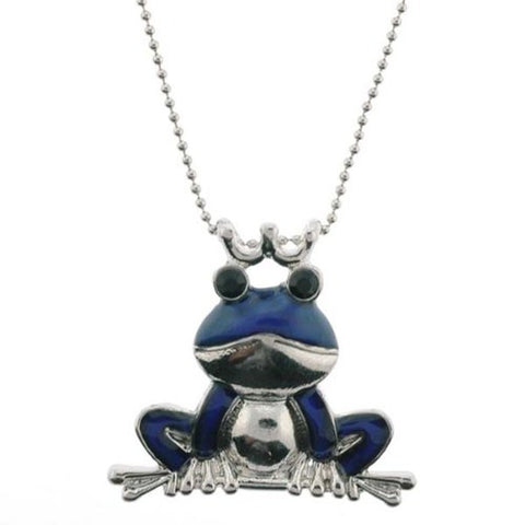"Frog Mood Pendant with 1.2mm Ball Chain - 16 to 18"" Adjustable Necklace"