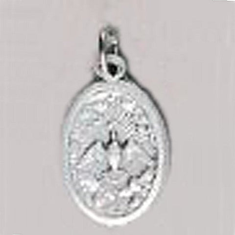 Confirmation Holy Spirit Oxidized Medal - Height: 1""
