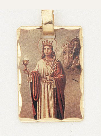 14 kt Gold Layered Medal - Saint Barbara - Hand Made, Ready for Engraving, Individually Boxed