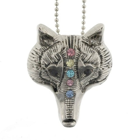 "Fox Pendant with 1.2mm Ball Chain 16 to 18"" Adjustable Necklace"