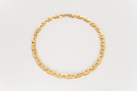 Golden Link Necklace: Deco Echo