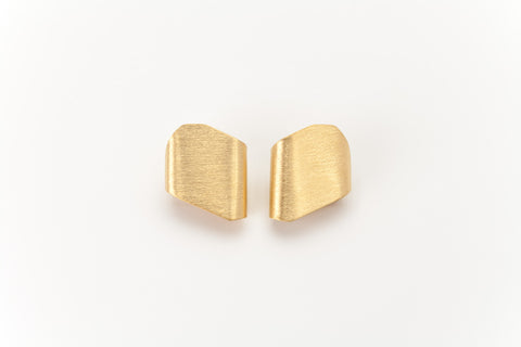 Folded Golden Ear Studs: Deco Echo