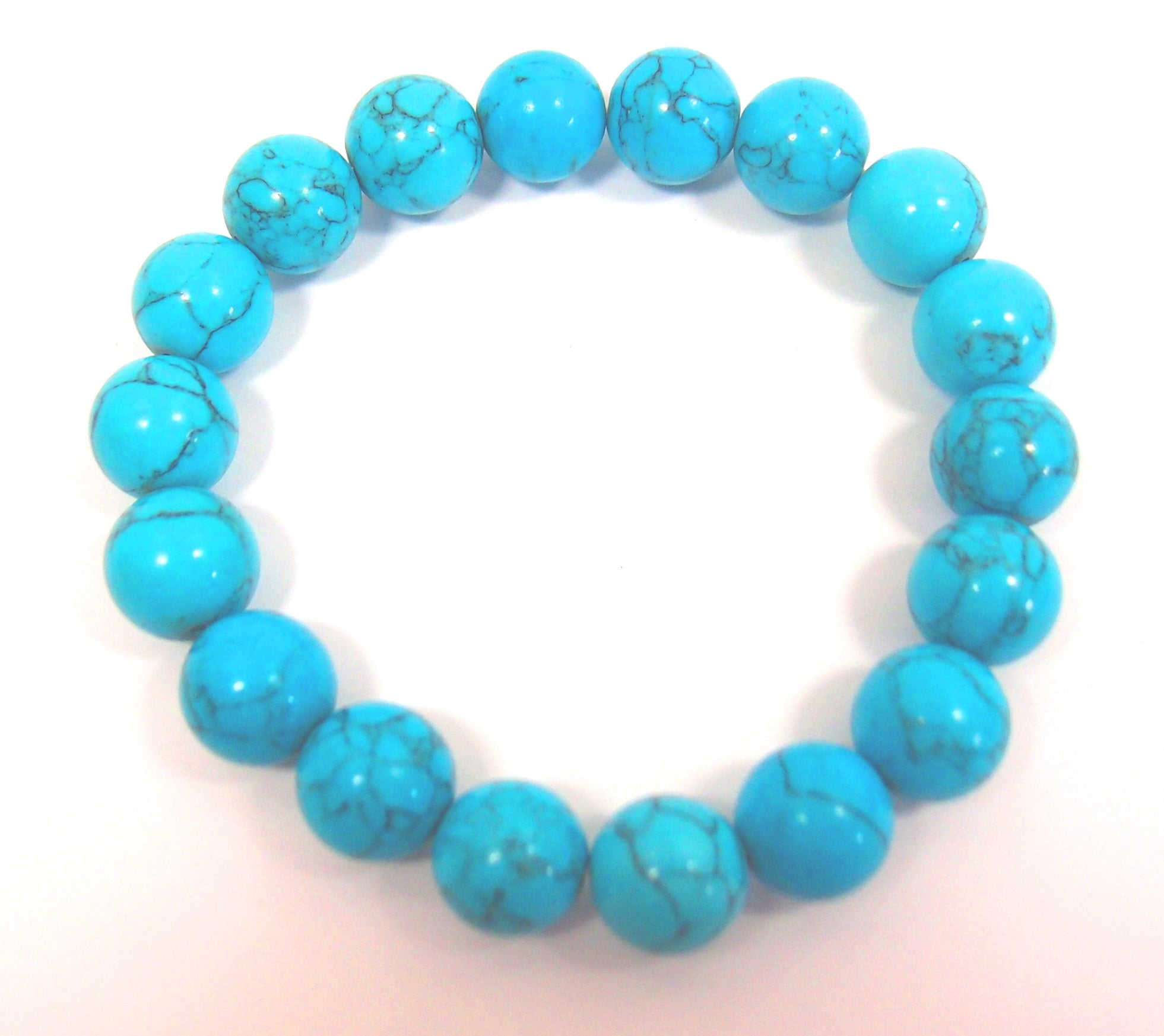 Turquoise Blue Bracelet (12mm beads): Pietra
