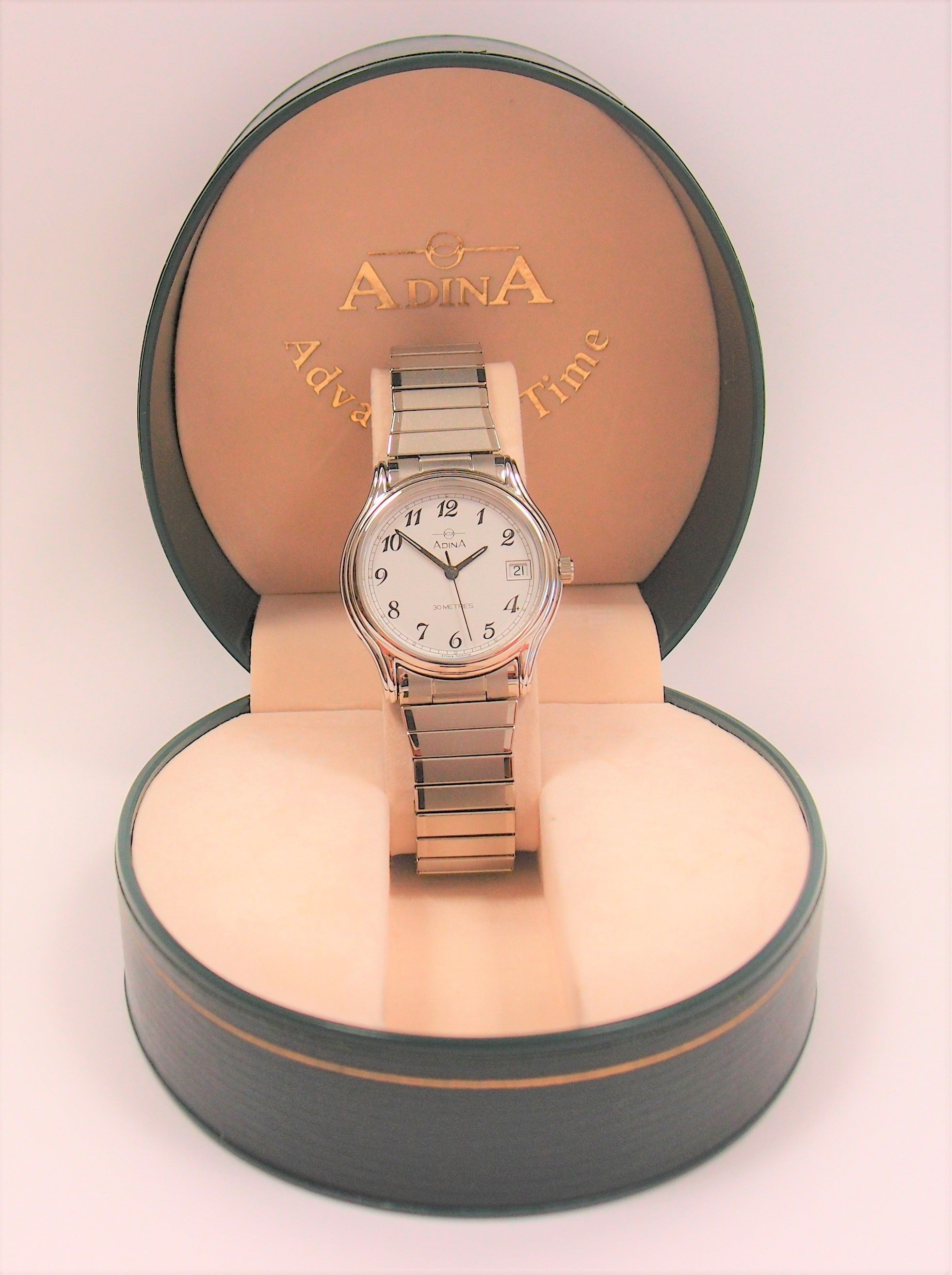 Adina Stainless Steel Gents Watch: Pre-adored