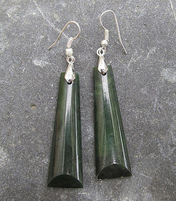 Greenstone Toki (Adze) Drop Earrings 45mm