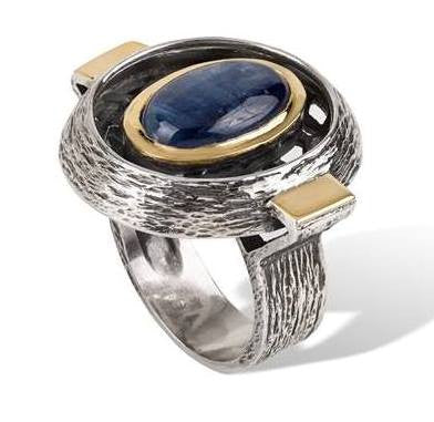 Kyanite, Silver and Gold Ring: Gabriela Styliano