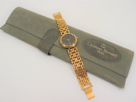 Christian Bernard Gold Plated Ladies Watch: Pre-adored