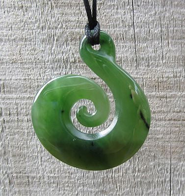 Greenstone Koru Hook 40mm