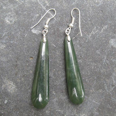 Greenstone Drop Earrings 45mm