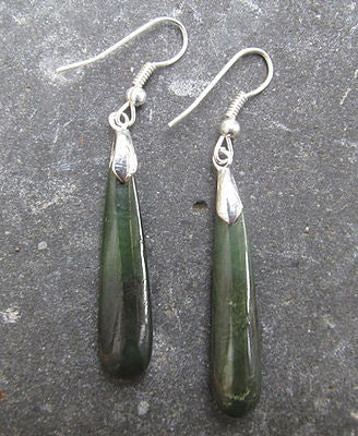Greenstone Drop Earrings 33mm