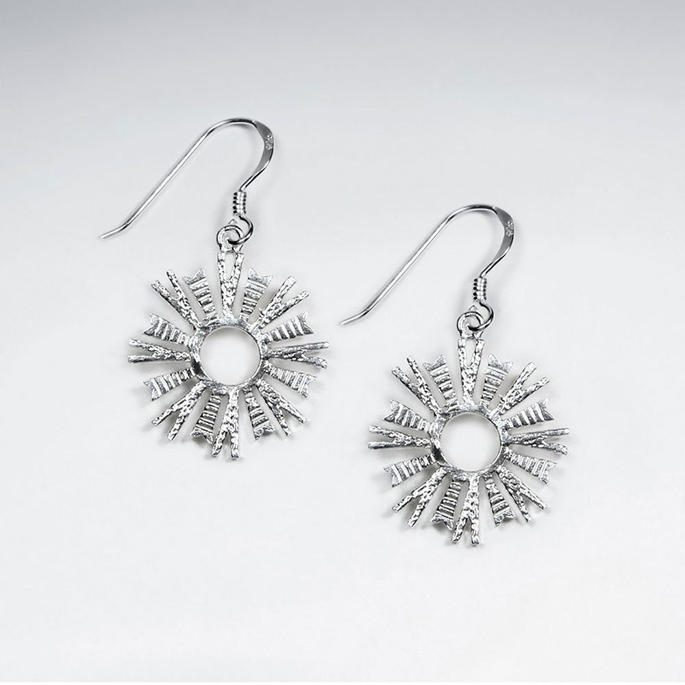 Sterling Silver Stasia Drop Earrings: Solveig's Silver