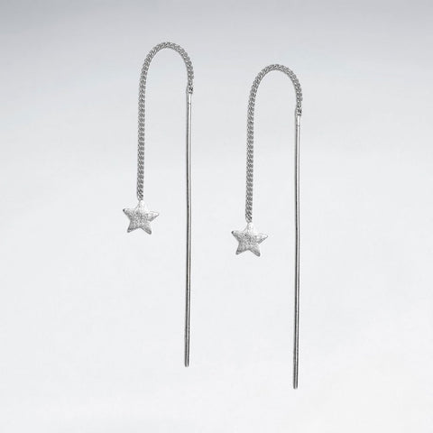 Sterling Silver Stella Thread Earrings: Solveig's Silver