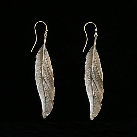 Feather Drop Earrings: Michael Michaud