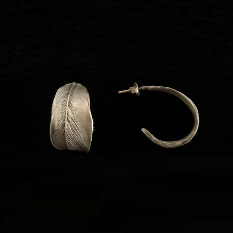 Feather Hoop Earrings: Michael Michaud