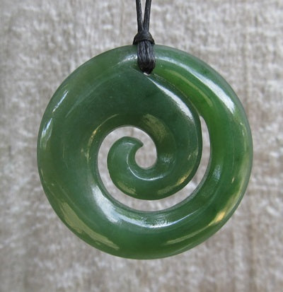 Greenstone (Pounamu) Koru Pendant 26mm