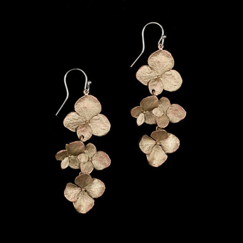 Hydrangea Drop Earrings: Michael Michaud