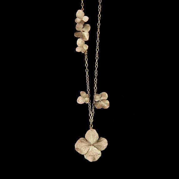Hydrangea Necklace; Long: Michael Michaud - Magpie.Kiwi