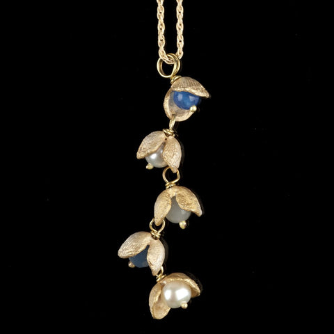 Itty Bitty Shells 3 Bead Drop Pendant - Michael Michaud