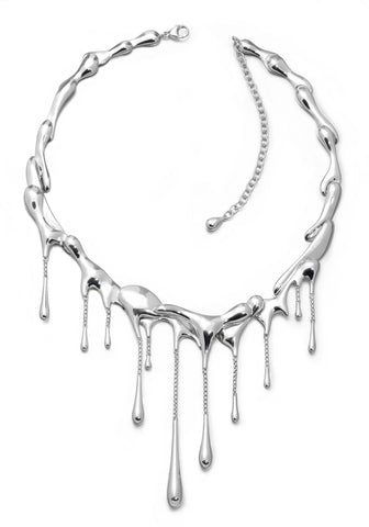 LucyQ Sterling Silver Drip Necklace