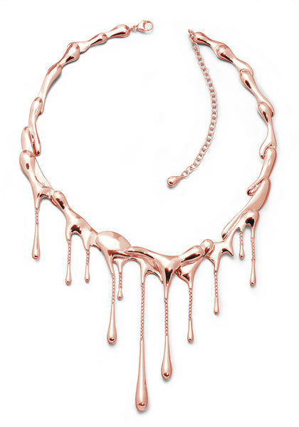 LucyQ 18k Rose Gold Vermeil Drip Necklace