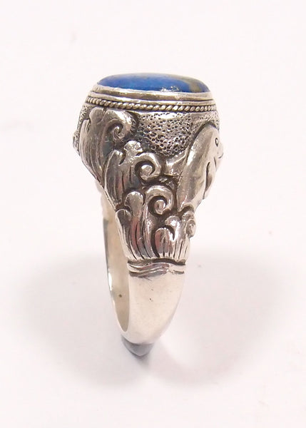 Lapis Lazuli and Sterling Silver Ring: Pre-Adored