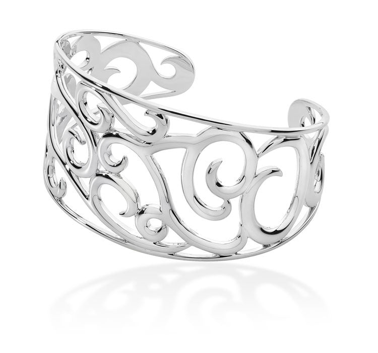 LucyQ Sterling Silver Element Air Cuff - Magpie.Kiwi