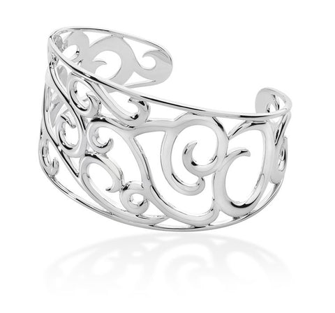 LucyQ Sterling Silver Element Air Cuff