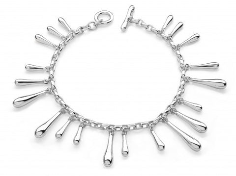 LucyQ Sterling Silver Multi Drop Bracelet - Magpie.Kiwi