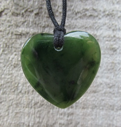 Greenstone (Pounamu) Heart Pendant 25mm