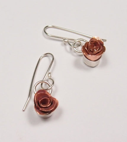 Rose Earrings: Diane Connal - Magpie.Kiwi