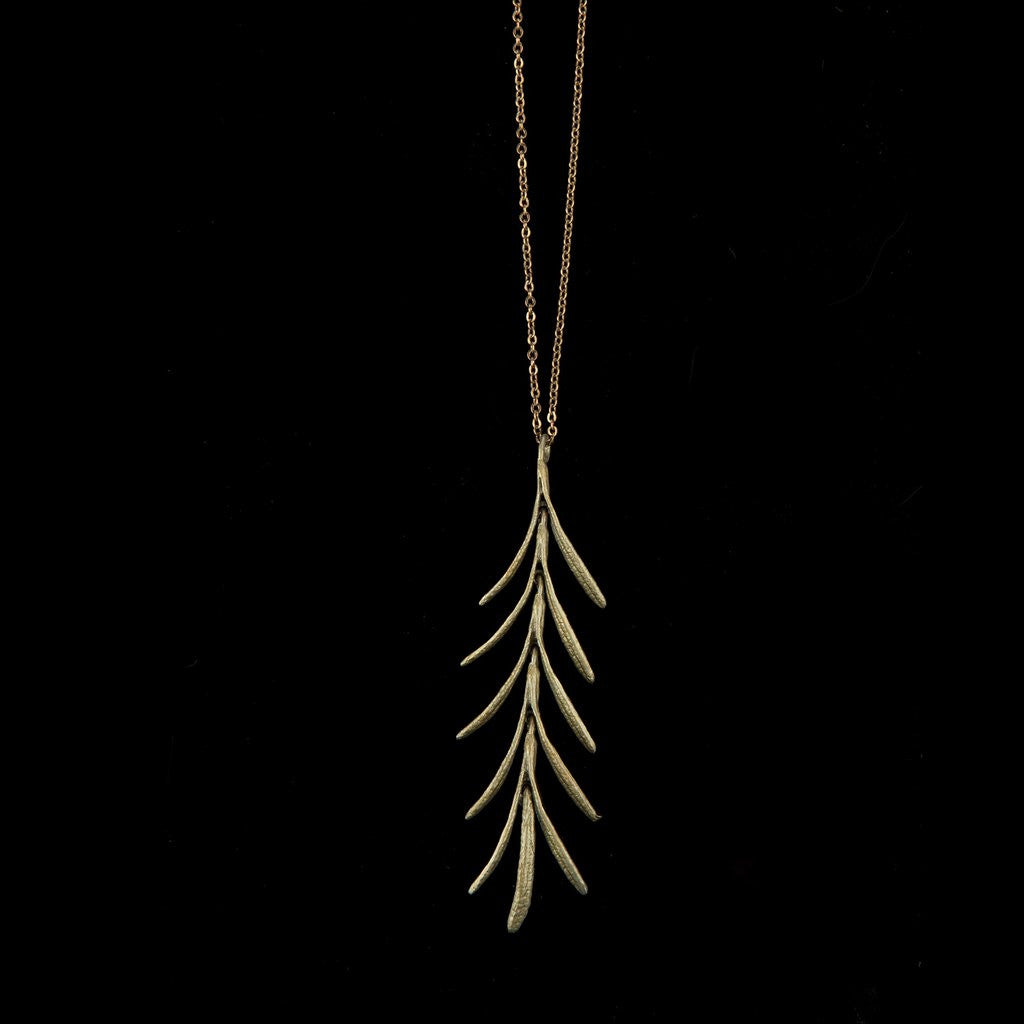 Rosemary Pendant and Chain: Michael Michaud - Magpie.Kiwi