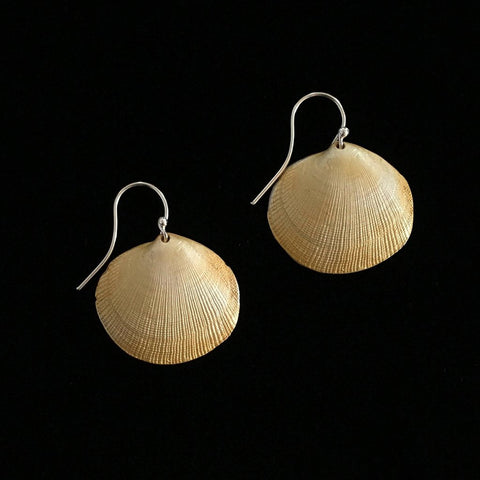 Small Beach Shell Drop Earrings: Michael Michaud