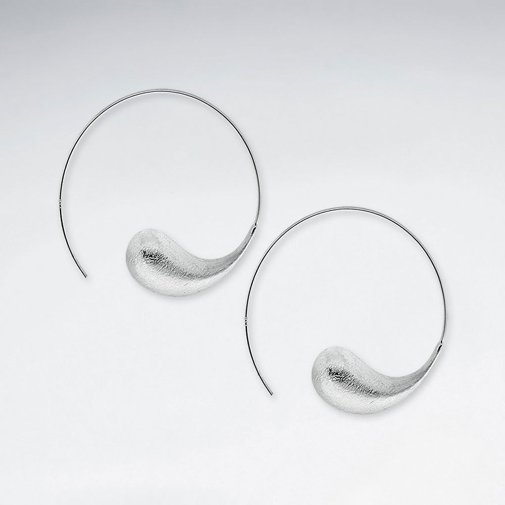 Sterling Silver Sofia Hoop Earrings: Solveig's Silver