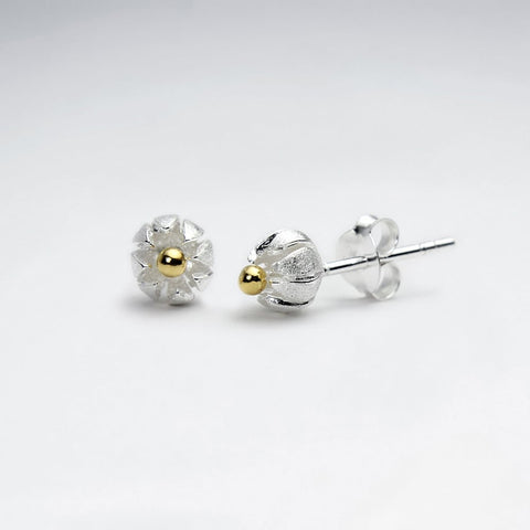 Sterling Silver Spring Bloom Stud Earrings: Woodland Collection
