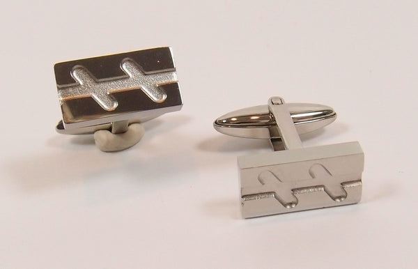 Steel Cuff-Links: For Him