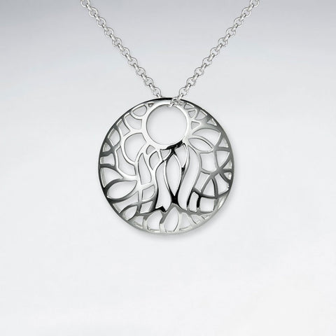 Sterling Silver Wisteria Pendant and Chain: Woodland Collection