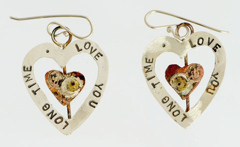 Love-You-Long-Time Earrings: Diane Connal