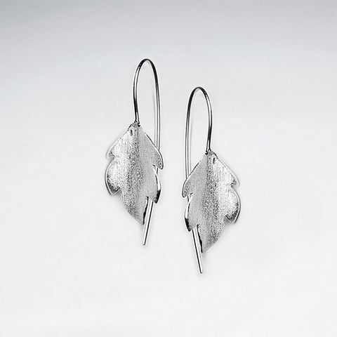Sterling Silver Small Autumn Leaves Earrings: Woodland Collection