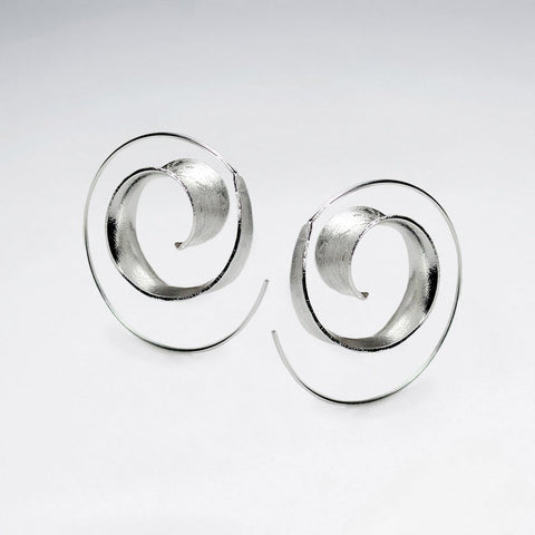 Silver Viveka Spiral Hoop Earrings: Solveig's Silver - Magpie.Kiwi