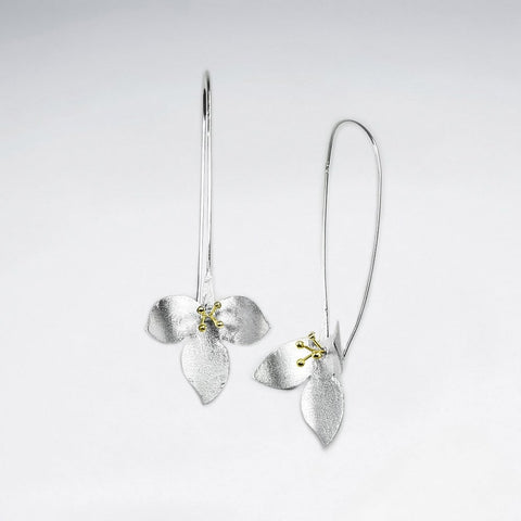Sterling Silver Trillium Earrings: Woodland Collection