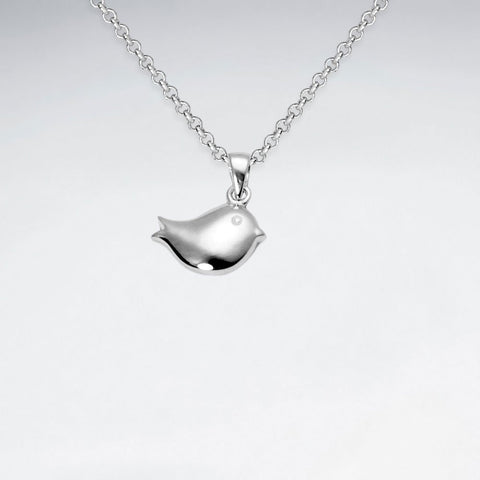 Silver Robin Pendant and Chain: Woodland Collection