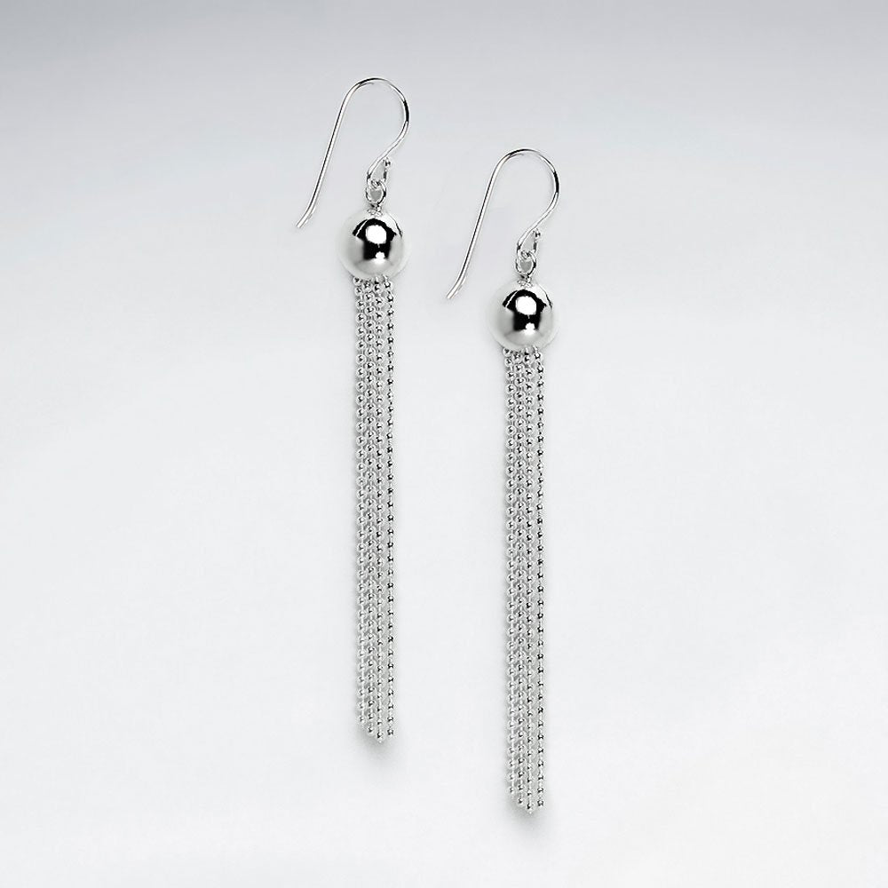 Sterling Silver Annelise Drop Earrings: Solveig's Silver