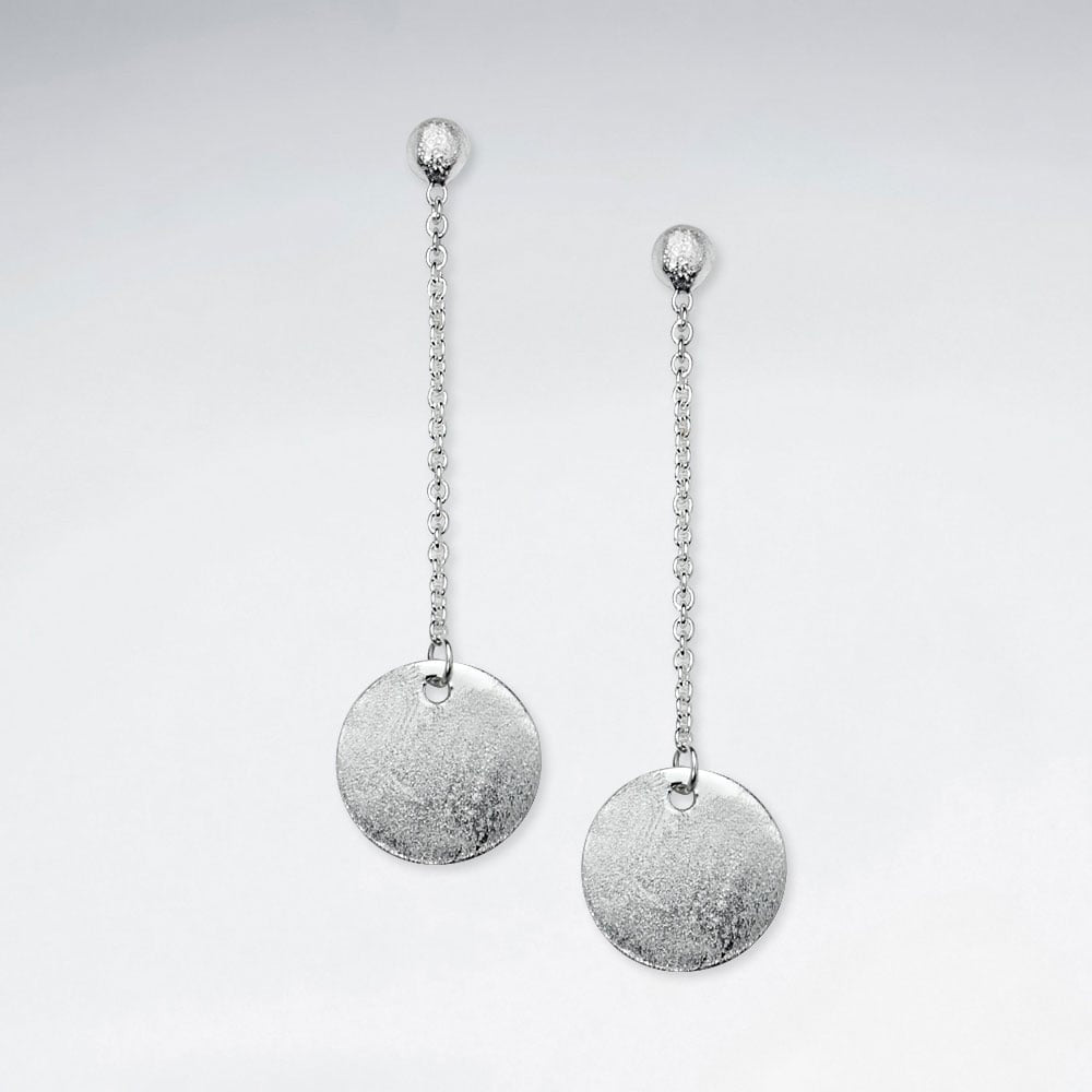 Silver Ula Drop Earrings: Solveig's Silver