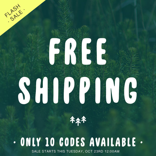 Free Shipping this Tuesday, Oct 23rd