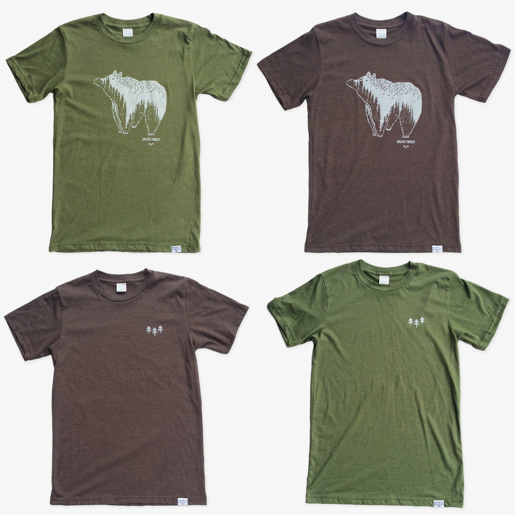 Bears and Trees 4 Tees Pack